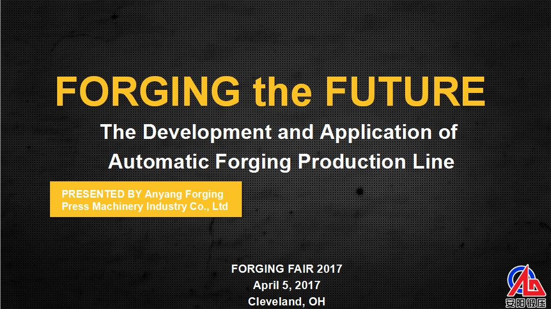 Anyang Forging Rress attend the Forge Fair 2017