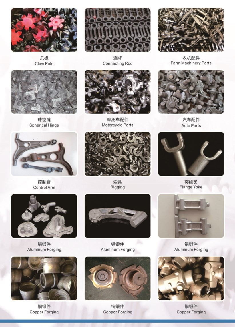 forgings forged on screw press